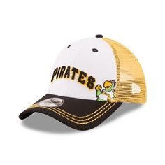 Youth New Era Pittsburgh Pirates Logo Play 9FORTY Adjustable Cap, White