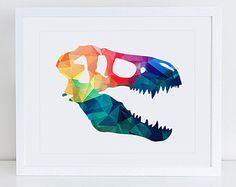 Dinosaur Print 8x10 Instant Download Dinosaur by MossAndTwigPrints
