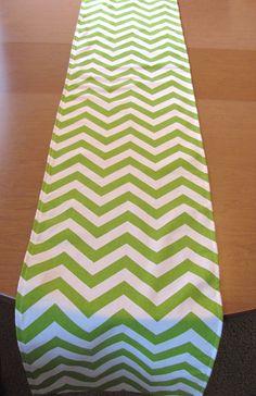 GreenTable RunnerGreen Chevron Table Runner.  Green  by KikoyChic, $18.00