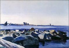 Edward Hopper (American, American Realism, 1882-1967), Gloucester Harbor, 1926. Watercolor on paper. Southwestern Bell Corporation Collection, San Antonio, Texas, USA.