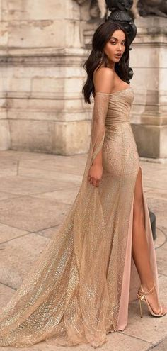 Off The Shoulder Long Sleeves Champagne Prom Dress With Split - - fashion champagne sequined long prom dresses, off the shoulder mermaid evening dresses, long sleeves junior prom dresses with split Source by Junior Prom Dresses, Gold Prom Dresses, Gala Dresses, Mermaid Evening Dresses, Prom Party Dresses, Evening Gowns, Long Gold Dress, Gold Gown, Gold Formal Dress