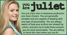 Psych - Personality Quiz I just took it and I am Juliet I wanted gus but that's okay all of you need to take it