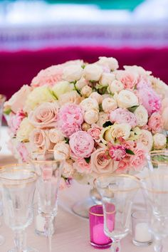 184 best centerpieces pink hot pink light pink and blush images on wedding centerpieces mightylinksfo