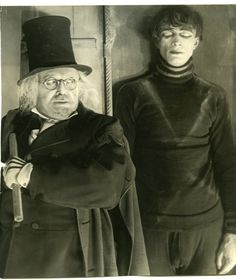 "Dr. Caligari & Cesare (from Das Cabinet des Dr. Caligari ""The Cabinet of Dr. Caligari"", 1920). Portrayed by Werner Krauss & Conrad Veidt"