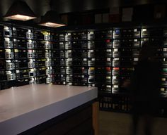 LED lighting for retail stores - FRX ribbon tape used to highlight wine display racks http://www.exled.co.uk/products-by-type/led-colour-ribbon-rope-strips-sign-modules/frx-ribbon-tape