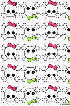 993-skulls-with-pink-and-green-bows-iphone-wallpaper.gif (320×480)