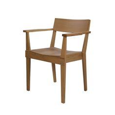 Chair in Oak with Armrests