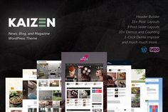Kaizen is a publishing WordPress theme that comes packed with features that aid in building great publishing sites. Whether you're a blogger, social media influencer, or a publishing company, Kaizen has got you covered. $49 #sponsored #ad Website design | Website layout | Website template