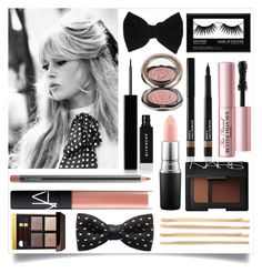 """""""Vintage Glam"""" by sixthandsocial on Polyvore featuring beauty, GE, claire's, Givenchy, MAC Cosmetics, NARS Cosmetics, Chantecaille, Too Faced Cosmetics, Lancôme and Tom Ford"""
