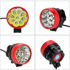 SolarStorm Red Aluminum Waterproof 5000LM 2x CREE XM-L T6 Bicycle LED Head light