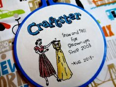 Craftster Hoop - NEEDLEWORK Craftster's 10th anniversary. Awesome crafty hoopla embroidery project. I adore it!