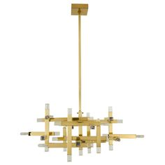 Robert Sonneman Cubix Chandelier | From a unique collection of antique and modern chandeliers and pendants  at http://www.1stdibs.com/furniture/lighting/chandeliers-pendant-lights/