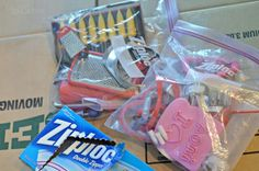 Big ziplock bags for small knick knacks that all go to the same place (junk drawers, bathroom, kitchen)