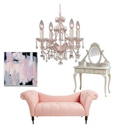 """""""pretty in pink"""" by keishanewman on Polyvore featuring interior, interiors, interior design, home, home decor, interior decorating and Crystorama"""