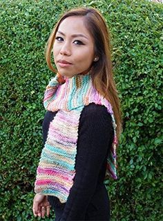 Garter stitch scarf in bamboo wool blend