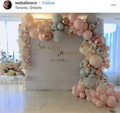 Bridal Shower Decorations Ideas - New ideas Bridal Shower Decorations, Balloon Decorations, Birthday Party Decorations, Wedding Decorations, Birthday Parties, Balloon Garland, Balloon Arch, 16th Birthday, Shower Party