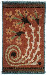 Punainen, Väinö Blomstedt, 1900-luvun alku Rug Hooking Patterns, Textile Patterns, Textiles, Rya Rug, Wool Rug, Scandinavian Embroidery, Felted Wool Crafts, Art Textile, Weaving Projects