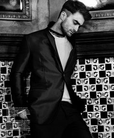 Daniel Radcliffe by Kevin Sinclair for Essential Homme August/September 2014