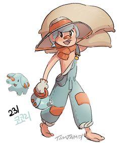 Pokemon Gijinka 231. Phanpy 232. Donphan