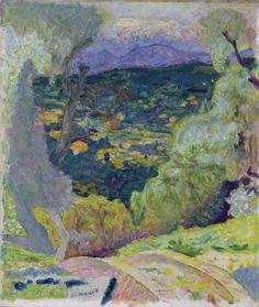 Pierre Bonnard (1867-1947) - Southern Landscape: Cannet (Paysage méridional: Le Cannet), 1929-1930  Von der Heydt Museum, Germany