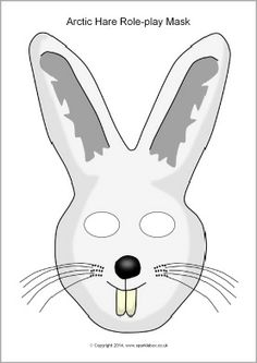 Arctic hare role-play mask (SB10263) - SparkleBox