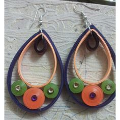 Quilled Earrings - Online Shopping for Earrings by Creatitude-Jewellery-Creatitude