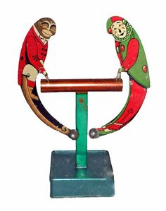 EARLY AMERICAN TIN LITHO BALANCE TOY