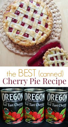 This is the best cherry pie recipe period if you want to use canned tart cherries. As a baker and cherry pie lover, I've fiddled with various recipes & modifications over time. recipes The Best Cherry Pie Recipe Ever (Made with Tart Canned Cherries) Best Cherry Pie Recipe, Homemade Cherry Pies, Cherry Recipes, Pie Recipes, Dessert Recipes, Canned Cherry Pie Recipe Easy, Nutella Recipes, Betty Crocker Cherry Pie Recipe, Oregon Cherry Pie Recipe