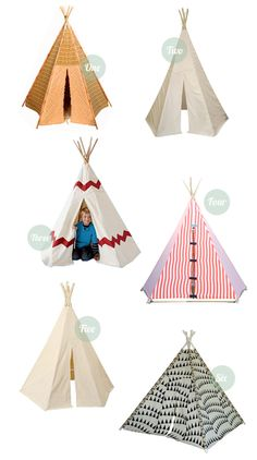 Teepees seem like a great way for kids to have a little fort/playhouse indoors.