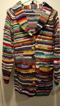 "My mother asked me to knit her a sweater. ""I want it to be colorful. Like, all the colors. Something other people will look at and think, 'what the hell is she wearing?' Only I won't care because I can wear what I want."""
