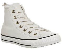 Converse Chuck Taylor All Star Winter Knit Fur Hi Top Women's Shoes  Parchment/Black 553367c