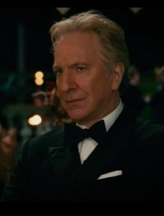 "2012 - still shot from ""Gambit"" — Snape's ""glare of death"" lives on!"