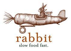 Rabbit Restaurant Logo Illustrated by Steven Noble by Steven Noble, via Behance