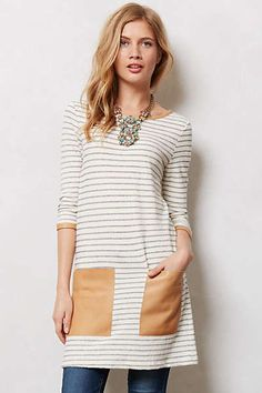 Anthropologie - Ruled Terry Tunic