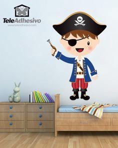 vinilos infantiles el pequeo pirata trabuco vinilo pared piratas barcos
