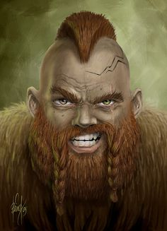 Battle dwarf of Khazad-Dum by baardk on deviantART