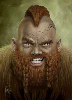 Battle dwarf of Khazad-Dum by baardk on deviantART
