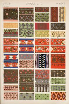Decorative Arts: The grammar of ornament: [Indian ornament. Plates 49, 50, 51, 52, 53, 53*, 54, 54*, 55]