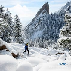 From Anton Krupicka's blog: Snowy morning with the Third Flatiron. Photo: Fred Marmsater.