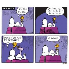 Time for bed, @Woodstock.