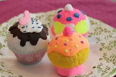Foam clay and Silk clay cupcakes from DiySweden