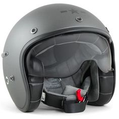 Buy the Harisson Corsair helmet in matte grey on Motolegends with free UK delivery and returns on all protective wear Star Deco, Roadster, Cafe Racer Build, Bmw Motorcycles, Cool Gear, Royal Enfield, Motorcycle Helmets, Corsair, Grey