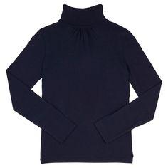 French Toast Girls' Turtleneck M(7-8) - Navy (Blue), Girl's, Size: M (7-8)