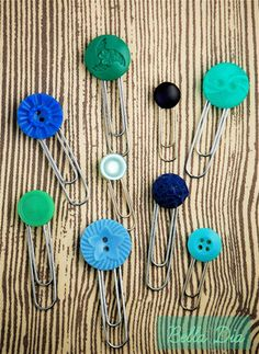 Bella Dia button clips and bookmarks tutorial DIY