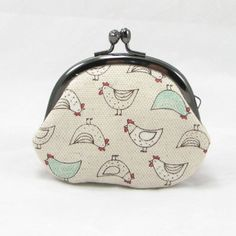 Small Coin Purse -Rooster  Mint