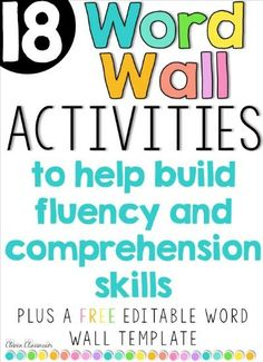 Word wall activities and a free word wall template that you can edit. click…