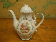 Musical Teapot Victorian Style Vintage by SETXTreasures on Etsy