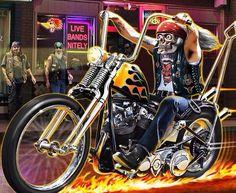 Harley Davidson Kunst, Harley Davidson Motorcycles, Harley Panhead, Easy Rider, Motorcycle Art, Bike Art, David Mann Art, Rock Poster, Drawn Art