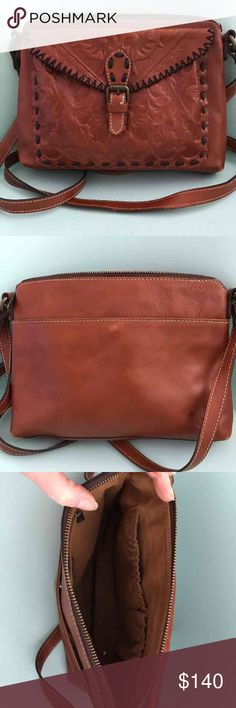 """Patricia Nash bag 10-1/2""""w 7-1/2""""h perfect condition ideal size cross body bag with Beautiful details Bags Crossbody Bags"""