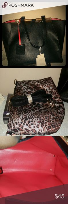 Purse Brand New...Has never been out of the dust jacket until this picture. Don't like the shape as much in person. Need to replace asap. Comes with a strap and animal print pouch that snaps into place. Bags Satchels